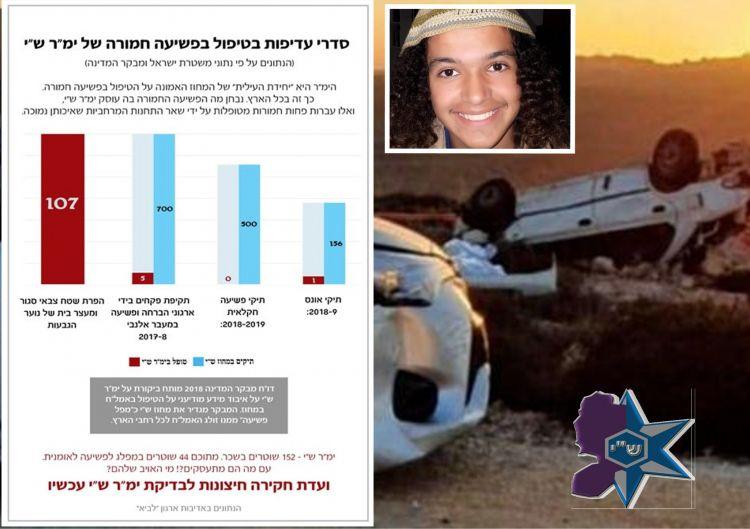 """ימ""""ר ש""""י: משטרה שפועלת רק נגד יהודים"""