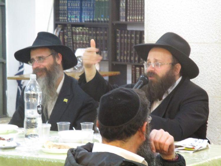 הרב מנדי וילשנסקי במרכז משיח י-ם