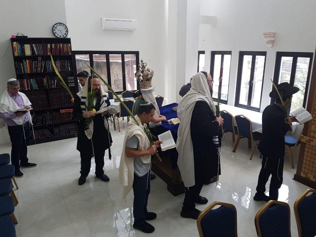 בית הכנסת בבניין החדש