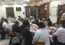 חיפה • הרב זלמן לנדא התוועד בהילולת המשפיע הרב ראובן דונין