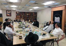 התוועדות חסידית בישיבת ראשון לציון